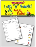 Matching Objects (Long A Words) Activity Sheets