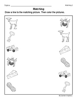 Matching Objects (Long E Words) Activity Sheets