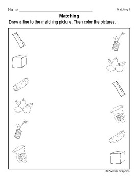 Matching Objects (Long U Words) Activity Sheets