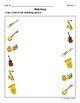 Matching Objects (Musical Instruments) Activity Sheets
