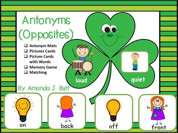 St.Patrick's Day Matching Opposites (Antonyms); Memory Game; Kdg; Autism