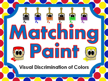 Matching Paint • Visual Discrimination of Colors • File Folder Game