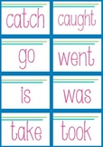 Matching Pairs Game - irregular past and present tense verbs
