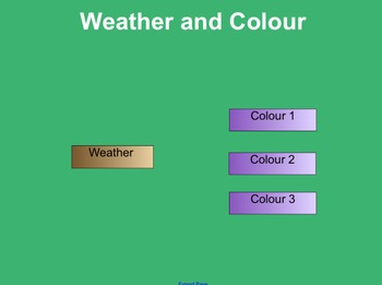 Matching Pairs Weather and Colours Activity