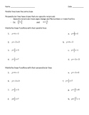 Matching Parallel and Perpendicular Linear Equations