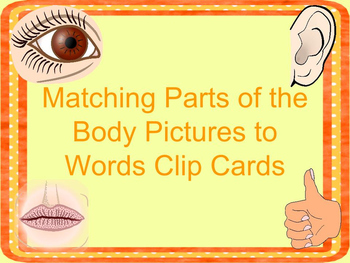 Parts of the Body Clip Cards