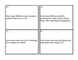 Matching Permutations and Combinations Activity
