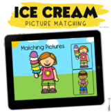 Boom Cards Summer Ice Cream Picture Matching