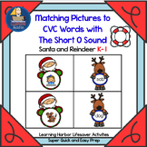 Matching Pictures to CVC Words With The Short O Sound  Life Saver Activity