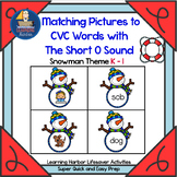 Matching Pictures to CVC Words With The Short O Sound    Lifesaver Activity