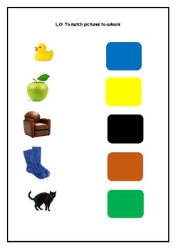 Matching Pictures to Colours