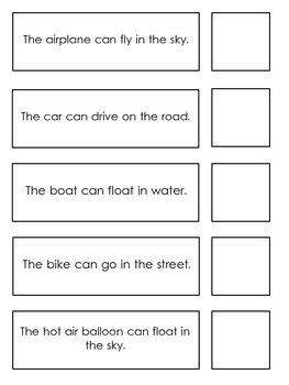 Matching Pictures to Simple Sentences