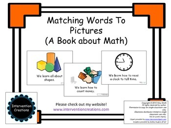 Matching Pictures to Words (A Book About Math)