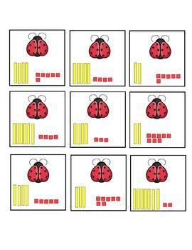 Matching Place Value Ladybugs Common Core