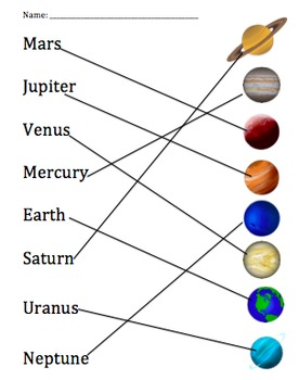 Matching Planets- National Space Day