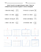 Matching Point and Slope to a Linear Graph Worksheet