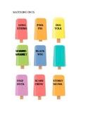 Matching Popsicle Sticks (K/G sounds)