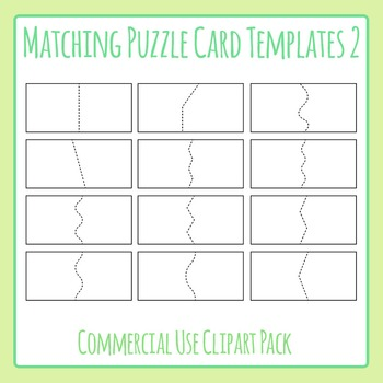 Matching Puzzle Card Templates 2 for Matching Games Clip Art for Commercial Use