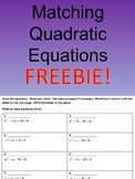 FREE Matching Quadratic Equations (Factoring)