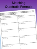 Matching Quadratic Formula