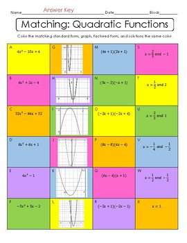 Matching Quadratic Functions