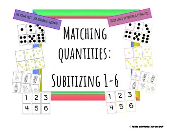 Matching Quantities- Subitizing 1-6