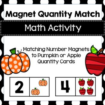 Matching Quantity Magnet for Preschool, PreK, Kinder and Homeschool