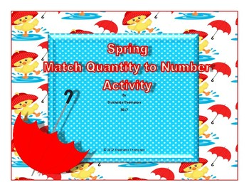 Matching Quantity and Numbers Card Activity
