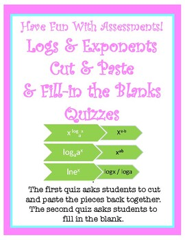 Matching Quiz: Logs & Exponents Rules