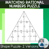 Matching Rational Numbers Shape Puzzle TEKS 7.2a