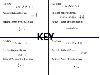 Matching- Rational Zeros Theorem