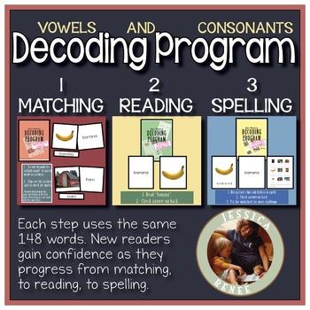 Decoding Phonics: Matching, Reading, Spelling Bundle