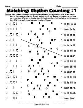 Matching - Rhythm Counting 1