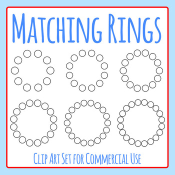 Matching Rings Clip Art Set for Commercial Use