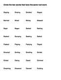 Matching Root Words