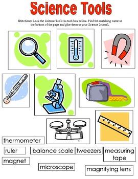 Science Tools Worksheet Teaching Resources | Teachers Pay Teachers