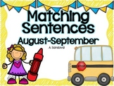 Matching Sentences -August/SEPTEMBER in ENGLISH