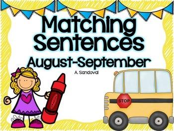 Matching Sentences -August/SEPTEMBER in ENGLISH