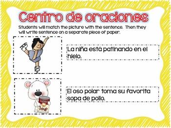 Matching Sentences in Spanish JANUARY