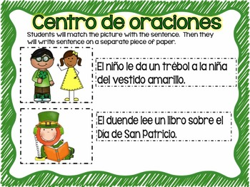 Matching Sentences in Spanish MARCH
