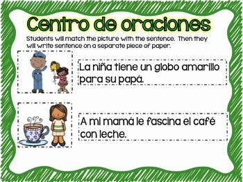 Matching Sentences in Spanish May