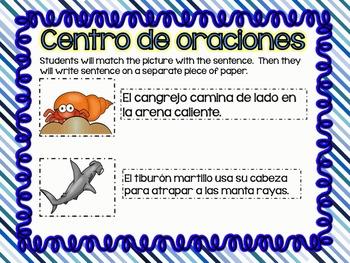 Matching Sentences in Spanish OCEAN