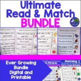 Matching   Read and Match   BUNDLE 9 Units