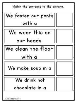 Matching Sentences to Pictures Functions Interactive