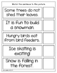 Matching Sentences to Pictures Winter