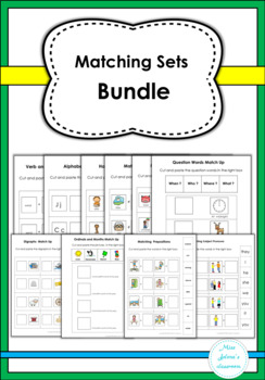 Matching Sets Bundle- Special Education
