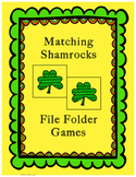 Matching Shamrocks File Folder Games