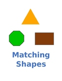 Matching Shapes File Folder