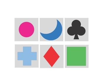 Matching Shapes File Folder Activity- Autism-Kindergarten-Special Education