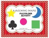Matching Shapes File Folder Activity- Autism-Kindergarten-